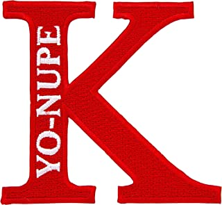 Kappa Alpha Psi Fraternity K Yo-Nupe Embroidered Appliqué Patch Sew or Iron On Greek Blazer Jacket Bag Nupe