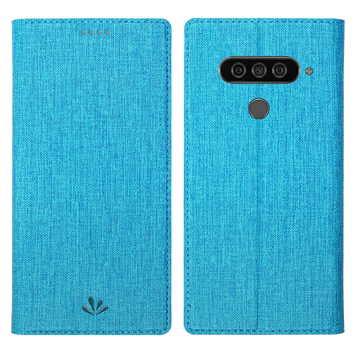 Simicoo LG G8 ThinQ Flip PU Leather Slim Fit case Card Holster Stand Magnetic Cover Clear Silicone TPU Full Body Shockproof Pocket Thin Wallet Case for LG G8 ThinQ (Blue, LG G8 ThinQ)