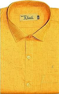 Reverence - Men's Full Sleeves, 100% Cotton Shining Silk, Formal Shirt, Brand Cotton Silk