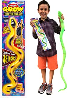 Magic Grow Snake (Pack of 1) and one Bouncy Ball by 2Chill | Grows Up to 48 Inches Great Snake Toy Party Favor | Item #311-1