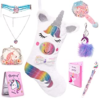 Christmas Stockings for Girls Filled with Unicorn Gifts The Ultimate for Kids or Adult Unicorn Lovers