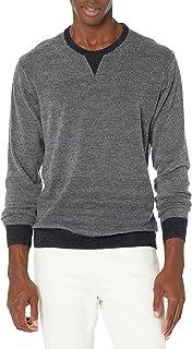 Goodthreads Men's Merino Wool Crewneck Micro Stripe Sweater