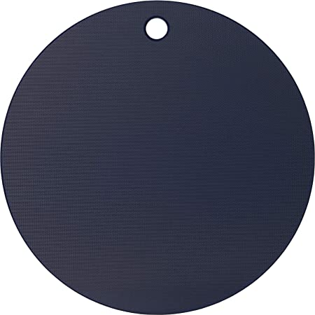 ヨシカワ(Yoshikawa) 栗原はるみ 調理用まな板 ネイビー/ホワイト 35cm まな板 (丸) HK11622