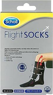 Scholl Flight Socks Compression Hosiery, Black (W6-8 M3-6)
