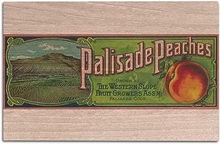 Lantern Press Palisade, Colorado - Palisade Peach - Vintage Label (12x18 Wood Wall Sign, Wall Decor Ready to Hang)