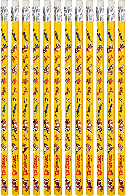 amscan Dr. Seuss Yellow - Popularity 12 Pcs. Pencils Ranking TOP3