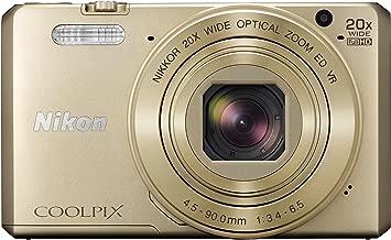 Nikon COOLPIX S7000 Digital Camera (Gold) - International Version (No Warranty)