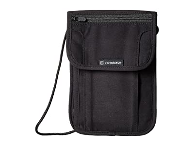 Victorinox Deluxe Concealed Security Pouch with RFID Protection (Black/Black Logo) Travel Pouch