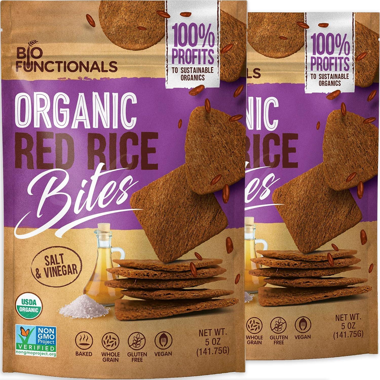 Organic Red Bargain sale Rice Crackers Gluten Quantity limited Free Salt Vinegar