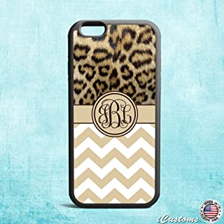 iCustoms Galaxy S3 Leopard Skin Monogrammed Cover, Case Rubber Black For Galaxy