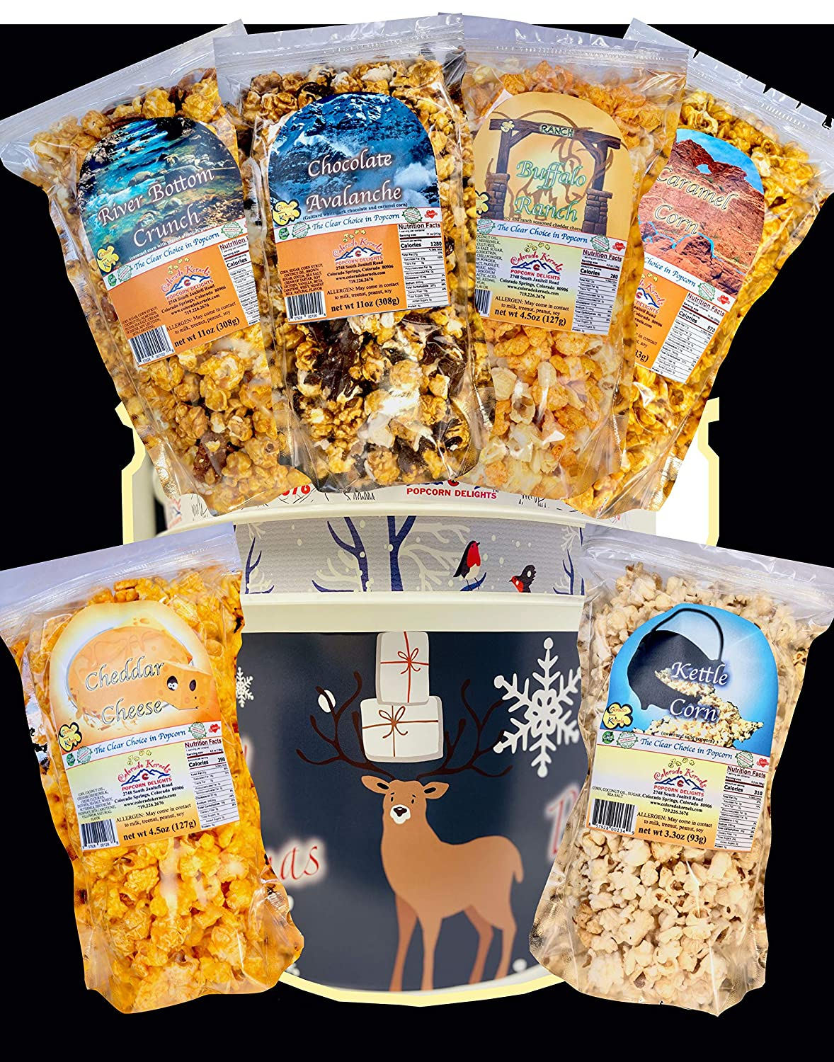 Popcorn by Colorado Kernels Delights Regular store Merry 3.5 Gal Time sale Chr