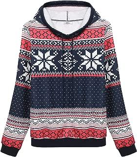 Women Hoody Christmas Jumper Top Snowflake Sweatshirt Sportwear Pullover