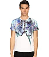 Just Cavalli - Tropical Ikat Print Short Sleeve Crew Neck Tee