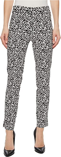 "Stretch Printed Bengaline 28"" Pull-On Ankle Pants"