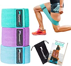 Hip Bands Glute Bands - SummitFIT, Colorado USA - Legs and Butt, Thigh Circle Band for Women, Premium, Non-Slip