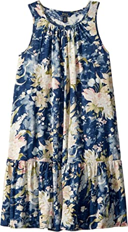 Polo Ralph Lauren Kids Floral Cotton Jersey Dress (Little Kids/Big Kids)