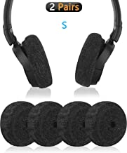 Geekria Sweater Earpads Cover for Sony WHCH500, ZX100, ZX110NC, ZX110, ZX300, ZX310AP, Y50BT, Y50BTBL / Stretchable Knit Fabric Earcup Protectors/Fits 1.57-3.14 inches Headphones (Black)