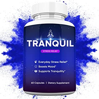 Tranquil Natural Happy Pills - 10x Anti Anxiety Relief & Depression Supplement | Dopamine Mood Boost, Serotonin Support, R...
