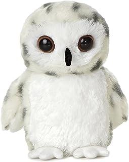 """Aurora Mini Flopsie 6"""" Snowy Owl,White"""