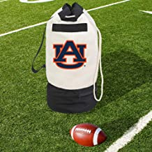 Smart Design Collegiate Heavy Duty Duffel Bag w/ 2 Compartments – 15 x 30 inch - Canvas - University of Auburn Team Design - Officially Licensed Logo - Blue & Orange Colors - [Auburn Tigers]