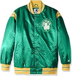 Starter Adult Men The Enforcer Retro Satin Jacket, Green, 6X