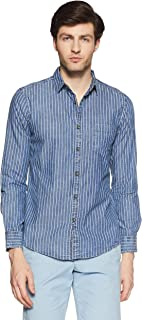 Amazon Brand - Symbol Men's Printed Regular Fit Casual Shirts