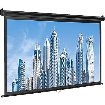 AmazonBasics 16:9 Pull Down Projector Screen - 80 Inch, White