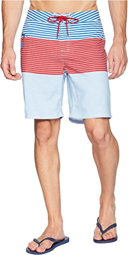 Whale Harbor Stripe Boardshorts