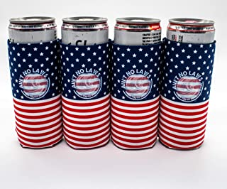 ASTOR - Coozies for Slim Cans | Ain't No Laws When You're Drinking Claws | American Flag | White Claw Coozie | Truly Coozies | Coozie for Slim Can | Fourth of July | Coozie for White Claw
