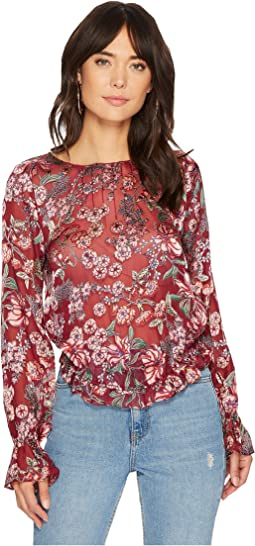For Love and Lemons - Flora Button Back Blouse