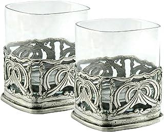 Bicchiere Whisky 2 pz personalizzabile Bicchieri Whiskey regalo papà Made in Italy Incidi le iniziali che vuoi