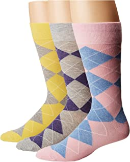 Argyle 3-Pack Socks