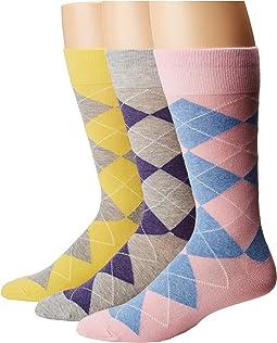 Polo Ralph Lauren Argyle 3-Pack Socks