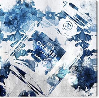 The Oliver Gal Artist Co. Fashion and Glam Wall Art Canvas Prints 'Blue Flower Scent' Home Décor, 16 x 16, White