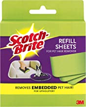 Scotch-Brite Upholstery Refill Sheets for Pet Hair Remover 849RF-8SB, 3.8 inches x 7.6 inches, 8 Sheets, 1 package