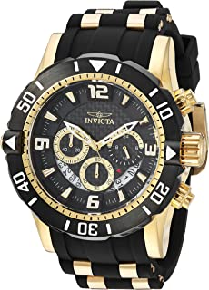 Invicta Men's Pro Diver Stainless Steel Quartz Diving Watch with Polyurethane Strap, Two Tone, 24 (Model: 23702)