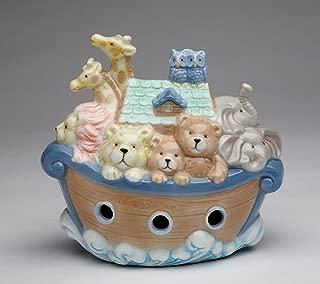 Cosmos Gifts 2041 Fine Porcelain Noah's Ark Piggy Bank, 4