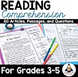 Reading Comprehension Passages and Questions for Grades 3-5 - (Non-fiction articles, Fictional Stories, Comprehension questions, text-evidence)