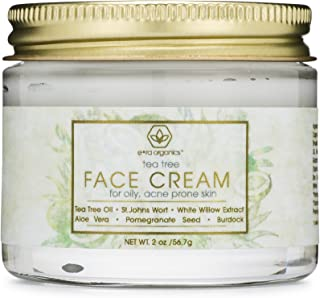 Tea Tree Oil Face Cream - For Oily, Acne Prone Skin Natural & Organic Facial Moisturizer with 7X Ingredients For Rosacea, Cystic Acne, Blackheads & Redness 2.0oz/56.6g