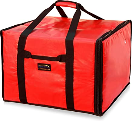 New Star 50134 Insulated Pizza Delivery Bag, 20 by 19 by 13.2-Inch, Red