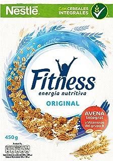 Cereales Nestlé Fitness Original Copos de trigo integral, arroz y avena integral tostados - Paquete de cereales de 450 gr