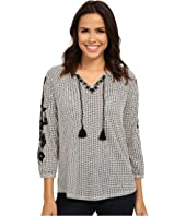 Lucky Brand - Dot Striped Top
