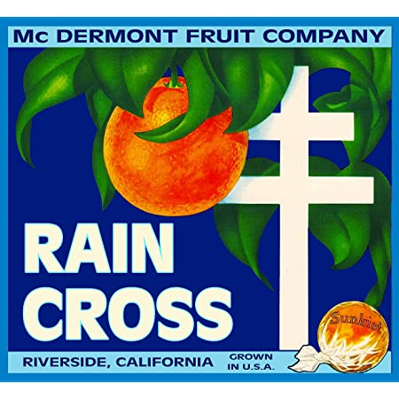 Riverside Oranges California Poppies Orange Citrus Fruit Crate Label Art Print