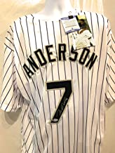 Tim Anderson Chicago White Sox Signed Autograph Custom White Jersey JSA Certified