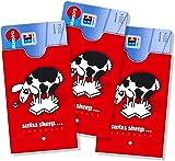 cardbox Motiv: SWISS SHEEP / Schweizer Schaf /// 3er SET /// Kartenh�lle, Bankkartenh�lle, Ausweish�lle, Clubkartenh�lle