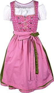 Ramona Lippert Damen Dirndl Viktoria 3-teilig in pink - Dirndlkleider für Jede Größe - wunderschönes Trachtenkleid - Tracht mit Schürze