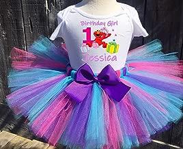 Party Elmo Personalized Birthday Outfit Tutu Set Purple/Turquoise