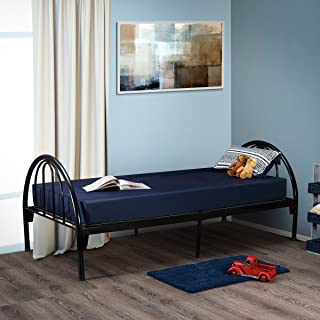 Fortnight Bedding 6 Inch Foam Mattress with Blue Nylon Cover Made in USA (30x74x6)