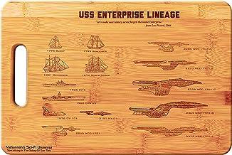 Mahannah's Sci-Fi Universe Star Trek USS Enterprise Legacy- Large Bamboo Cutting Board, Wooden Cutting Boards for Kitchen,...