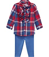 Ralph Lauren Baby Plaid Top & Leggings Set (Infant)